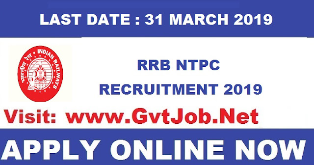Sarkari Naukri RRB NTPC 2019 35277 Post Apply Online Application