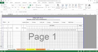 Aplikasi Absensi Siswa Format Excel