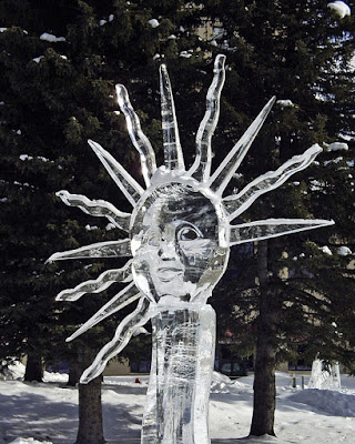 Sun ice carving