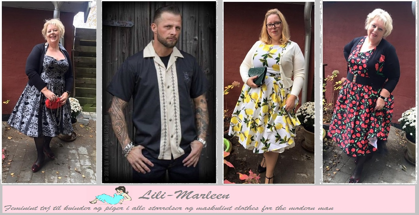 fc68537a Skønne Rockabilly kjoler med god pasform i flotte farver, nu også i plus  size.
