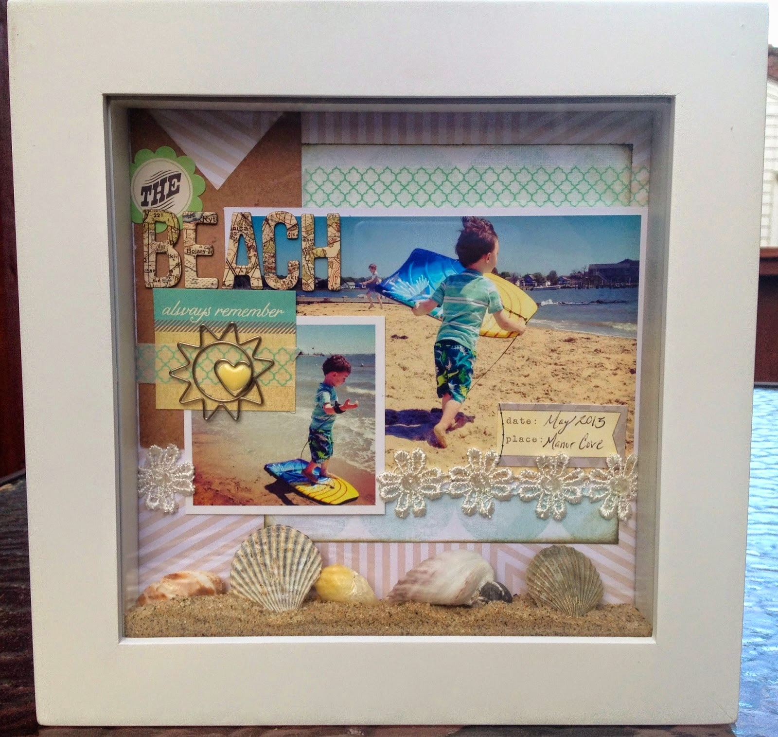 Beach Themed Shadow Box Ideas: Glue Meets Paper: Mother's Day Ideas Past And Present