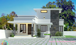 Low cost single storied 2 BHK home Kerala home design