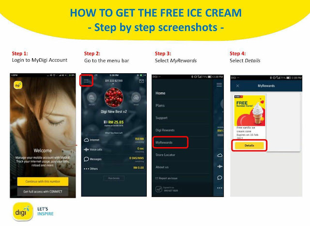 Digi MyDigi Account How to Get Free McDonald's Sundae Cone Ice Cream