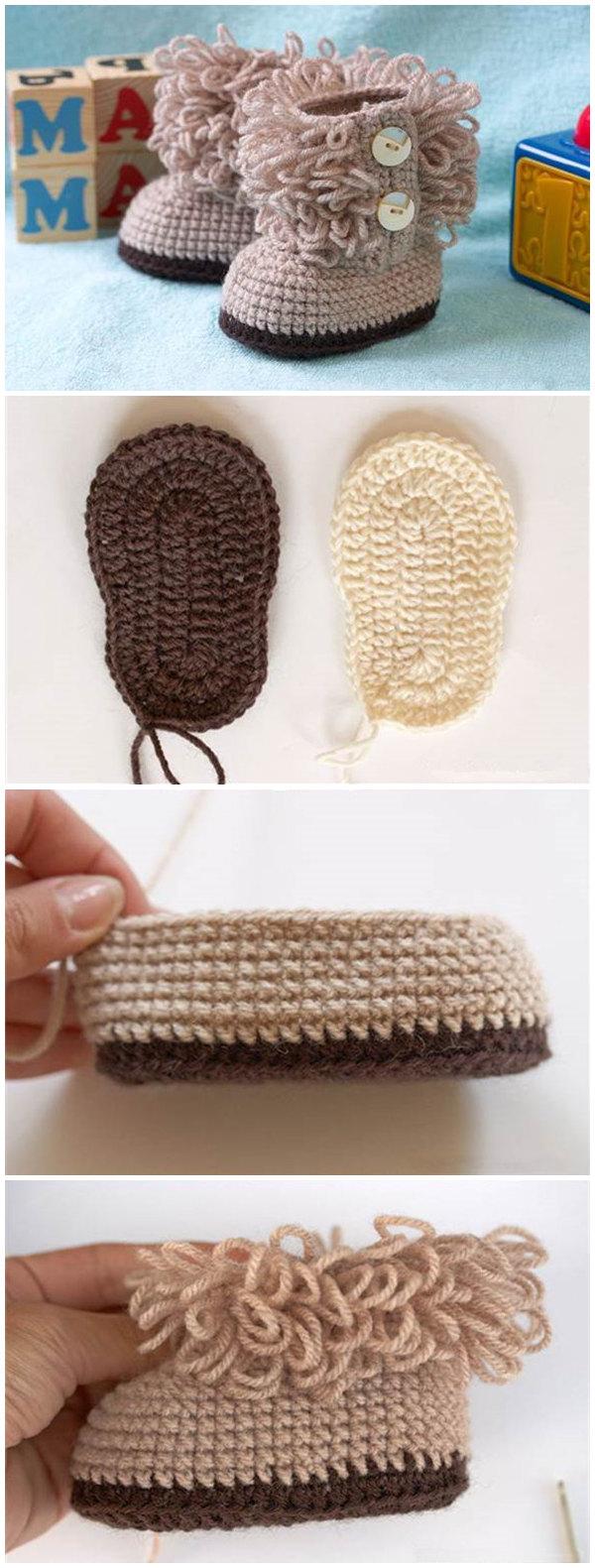 DIY UGG Style Crochet Booties