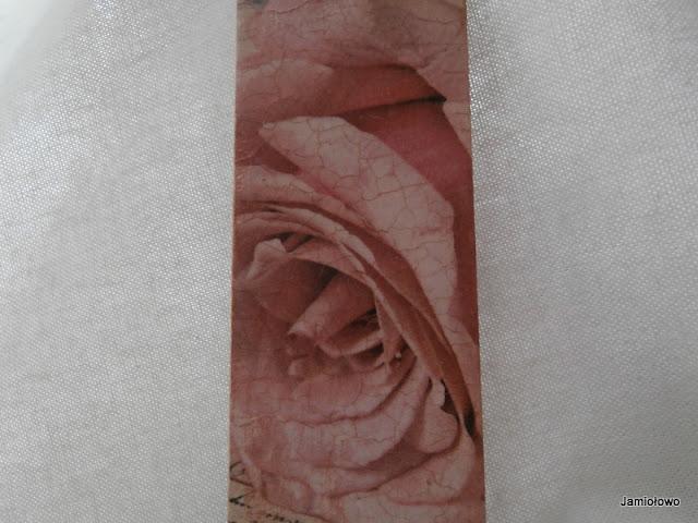 motyw serwetki z różą w stylu vintage