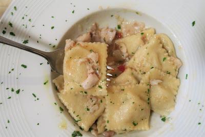 Tordelli al branzino / Tortelli al Branzino at Abacab Tordelleria, Massa, Italy