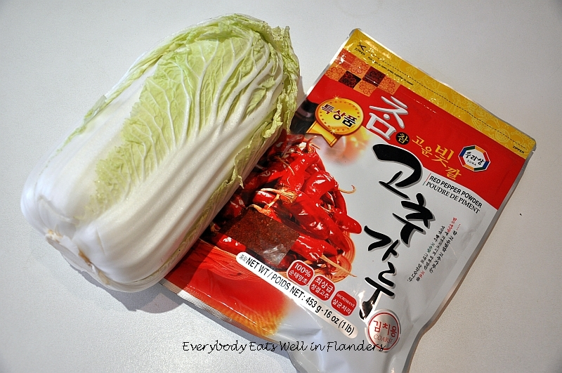 Everybody Eats Well in Flanders: Easy Cabbage Kimchi for ...