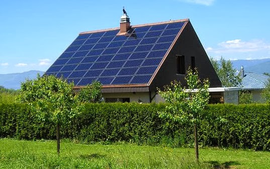 Solar roof house