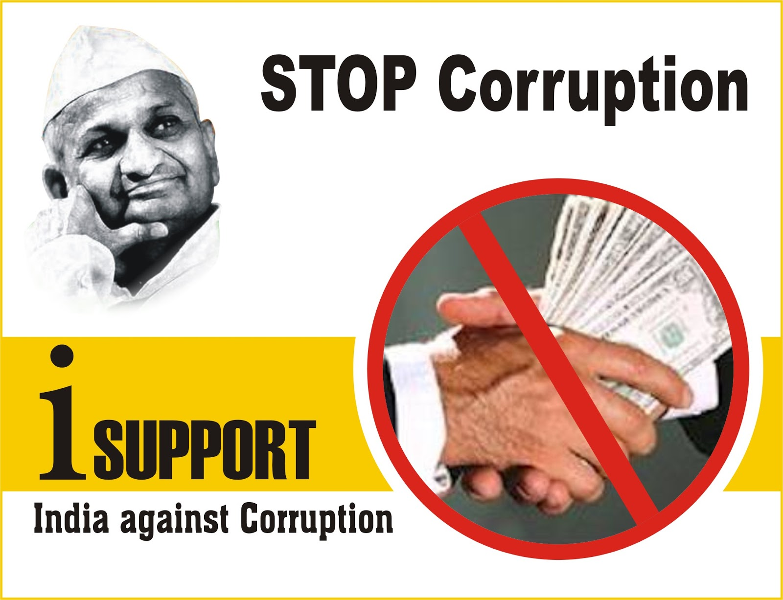 Corruption Poster: Fight against Corruption