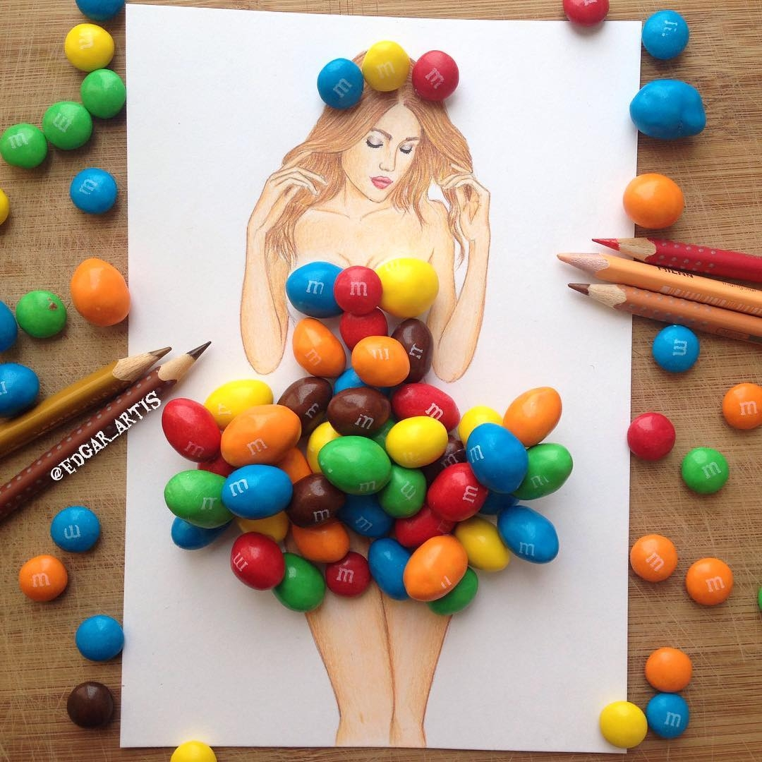 07-M&M-s-Queen-Edgar-Artis-Drink-Food-Art-Dresses-and-Gowns-Drawings-www-designstack-co