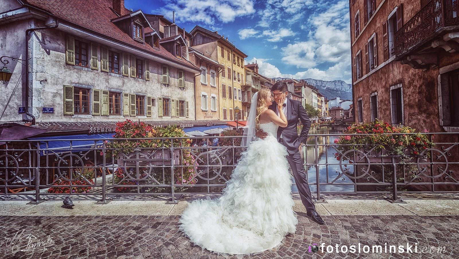 Fotografia ślubna wrocław - Sesja plenerowa we Francji - Annecy