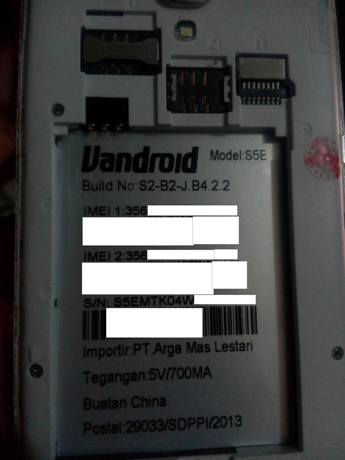 Firmware ADVAN S5E Build No