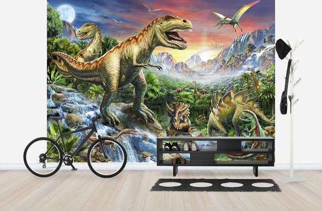 Lastenhuoneen Tapetti Lasten Tapetti Dinosaurukset 3D