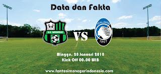 Data dan Fakta Liga Fantasia Serie A Sassuolo vs Atalanta Fantasi Manager Indonesia