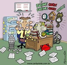 ambiente de trabalho desorganizado