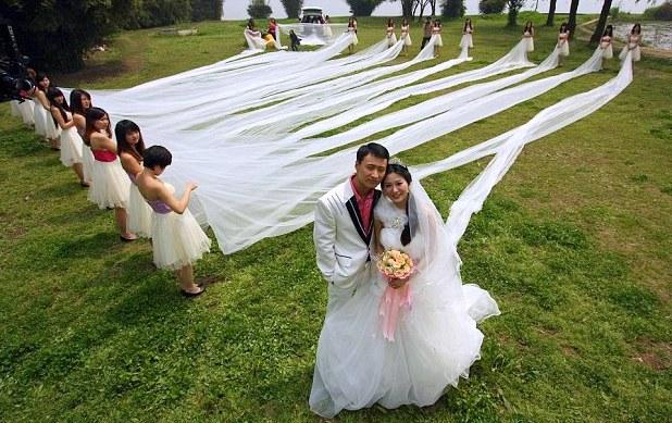 O Mais Longo Vestido de Noiva do Mundo