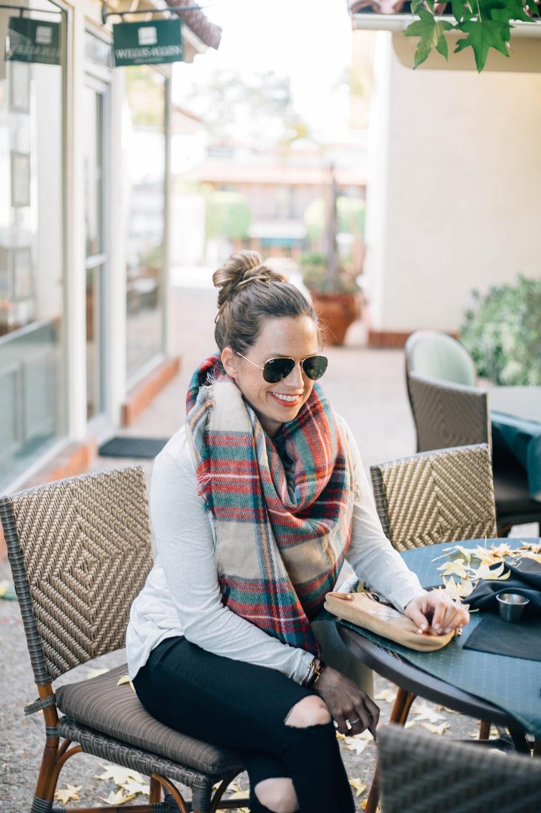 blanket scarf street style