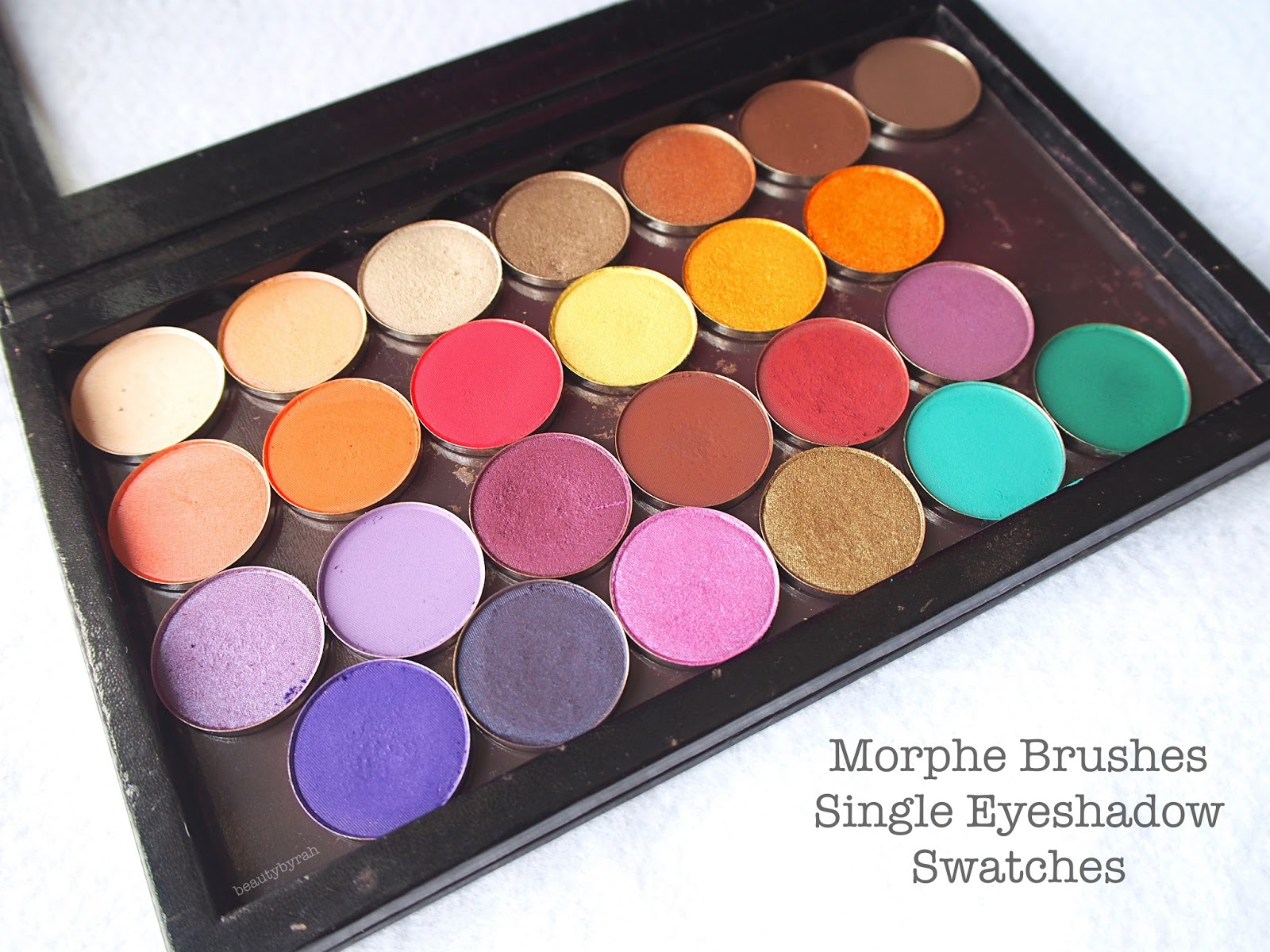 morphe brushes single eyeshadows review and swatches