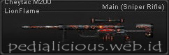 Senjata Point Blank Cheytac M200 LionFlame