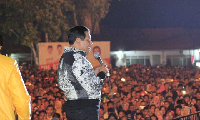NH Sambut Pergantian Tahun Bareng Puluhan Ribu Warga Bone