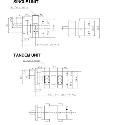 Bơm thuỷ lực SAP50-70 lắp cho Cẩu thuỷ lực Soosan 5 tấn SCS513-SCS514. Soosan 6 tấn SCS615-SCS736, Soosan 7 tấn SCS746