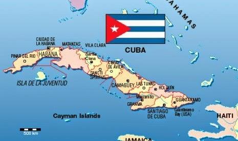 Peta Negara Kuba