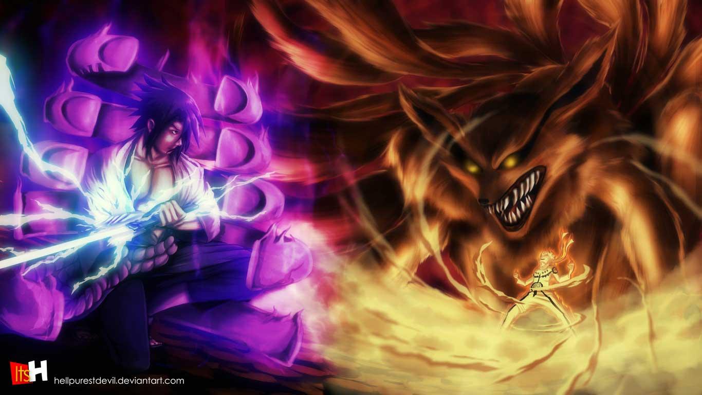 Gambar Foto Naruto Vs Sasuke Berubah Keren Gambar Kata Kata