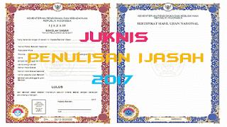 Juknis Ijazah dan SHUN 2017 dejarfa.com
