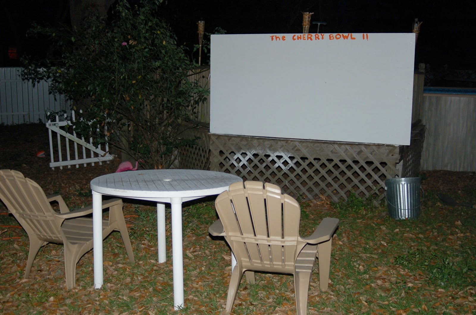 how to make your own movie screen for outdoor movies. Black Bedroom Furniture Sets. Home Design Ideas