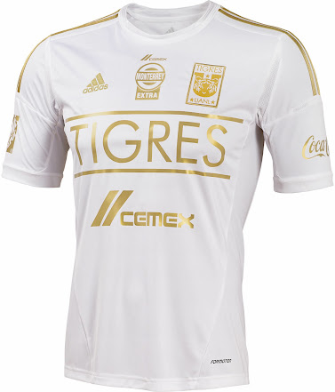 White   Gold Adidas Tigres UANL 2014 Third Kit - Footy Headlines c152ed706
