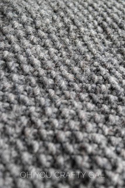 Moss stitch wool chunky bulky knitting pattern one skein beginnner