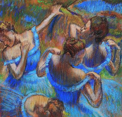 Edgar Degas Blue Dancers painting Study by Irina Sztukowski