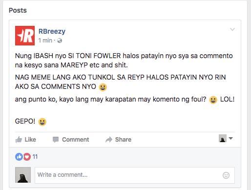 Netizens Cry Foul Over RBreezy Rape Joke!