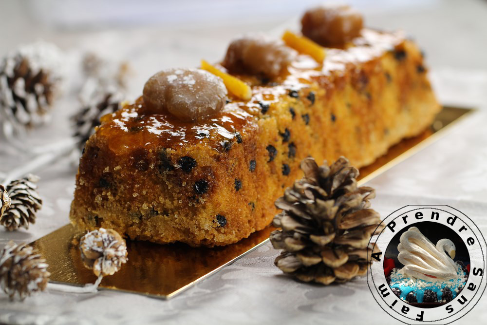 Cake de Noël myrtilles marrons