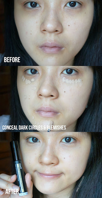 Klairs Creamy & Natural Fit Concealer, Klairs Wishtrend Review, Wishtrend Review, Wishtrend skin care review, skin care review, Klairs swatch, Klairs concealer before after,