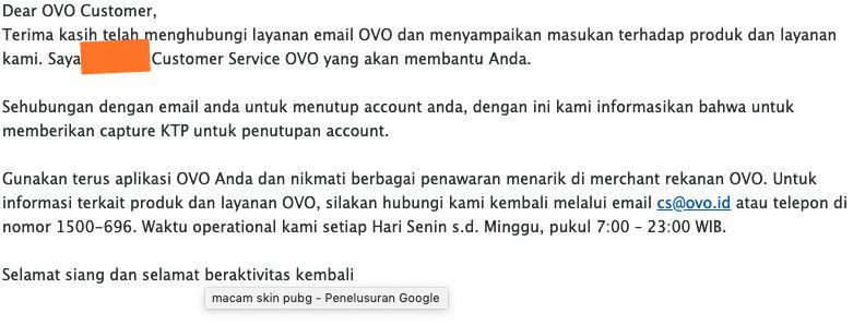 Begini Cara Menghapus Akun OVO - Atmarnews