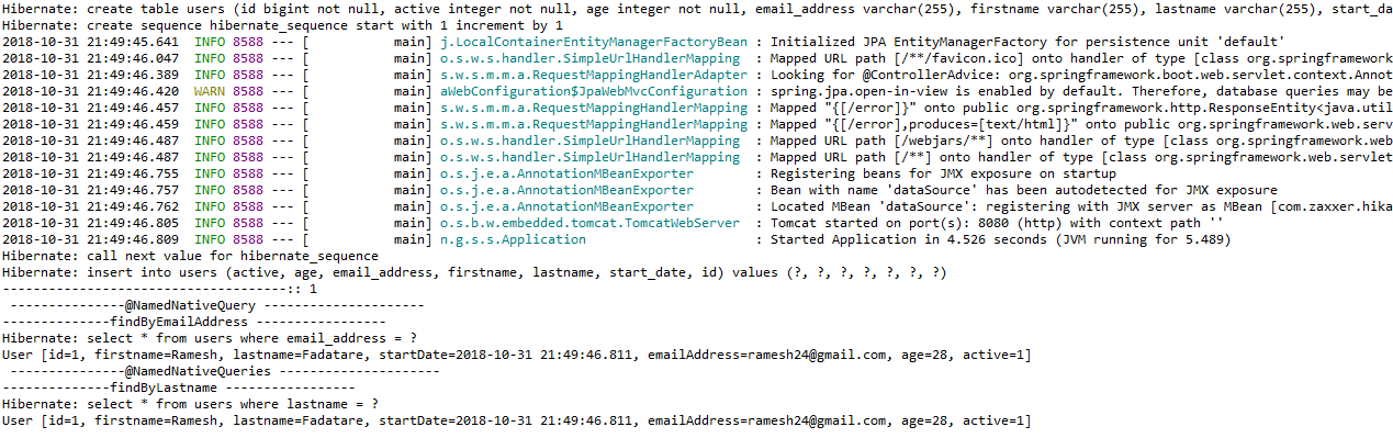 Spring Data JPA @NamedNativeQuery and @NamedNativeQueries