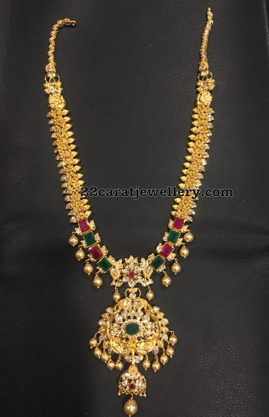 Precious Gemstones Stones Antique Long Chain