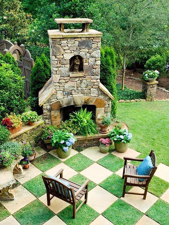 Great Patio Ideas - Side and backyard idea - Patio Design ... on Cool Backyard Patio Ideas id=16850