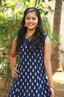 Tamil Actress Amritha Pos in Blue Long Dress at Padaiveeran Tamil Movie Audio Launch  0006.jpg