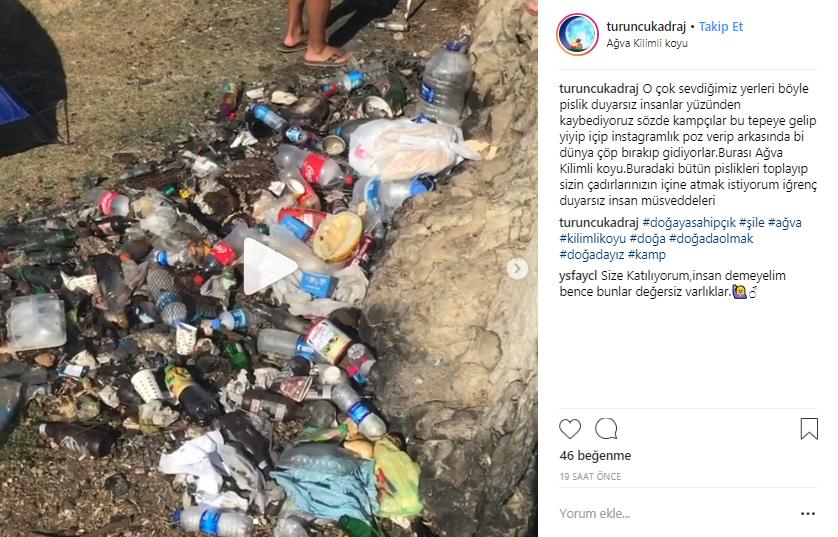 Ağva Kilimli Koyu Çöpler İçinde Kaldı