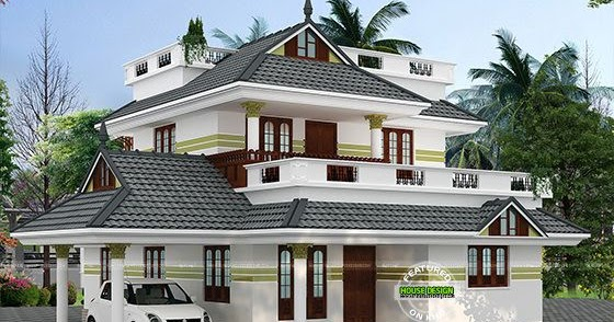 beautiful 4 bedroom sloping roof home 1940 sq ft kerala
