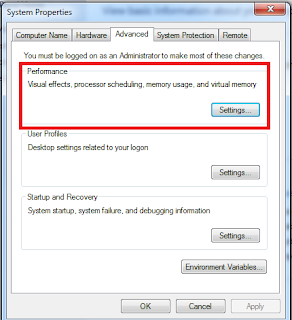 pilih advanced setting pada tampilan windows 7