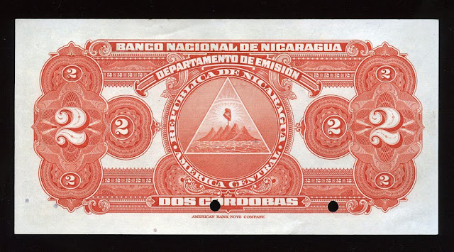 Billete Nicaragua 2 Cordobas