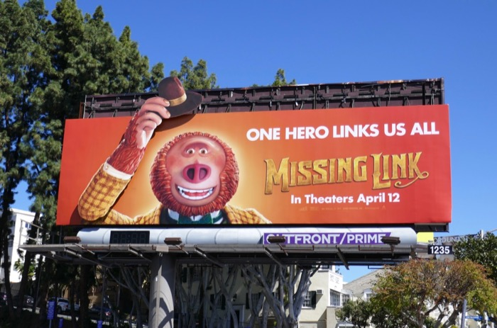 Missing Link motorised moving hand hat billboard
