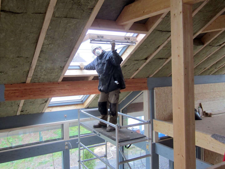 zonder steiger dak repareren