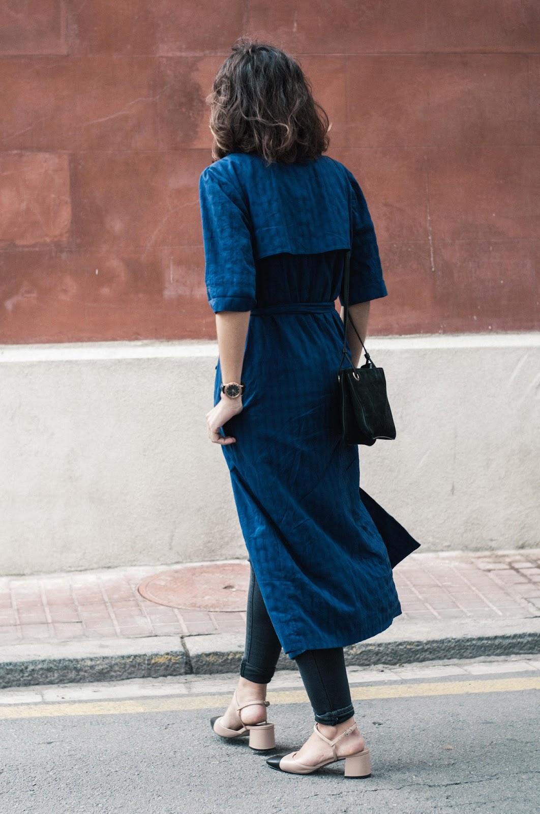 Vestido Zara, Zapatos Uterque, bolso & Other Stories