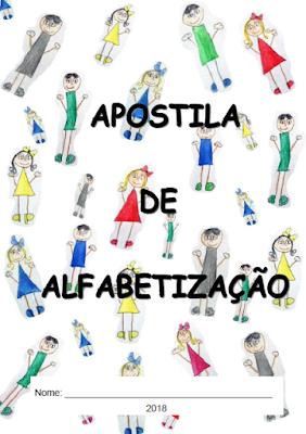 Capa do caderno de ATIVIDADES DE ALFABETIZAÇÃO - 2018