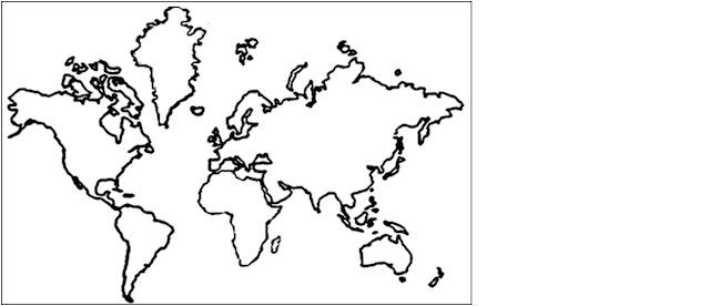 Mapa Del Mundo Para Dibujar: Mapa Del Mundo Dibujado