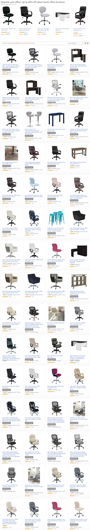 40% Off - Home office furniture amazon deals of the day